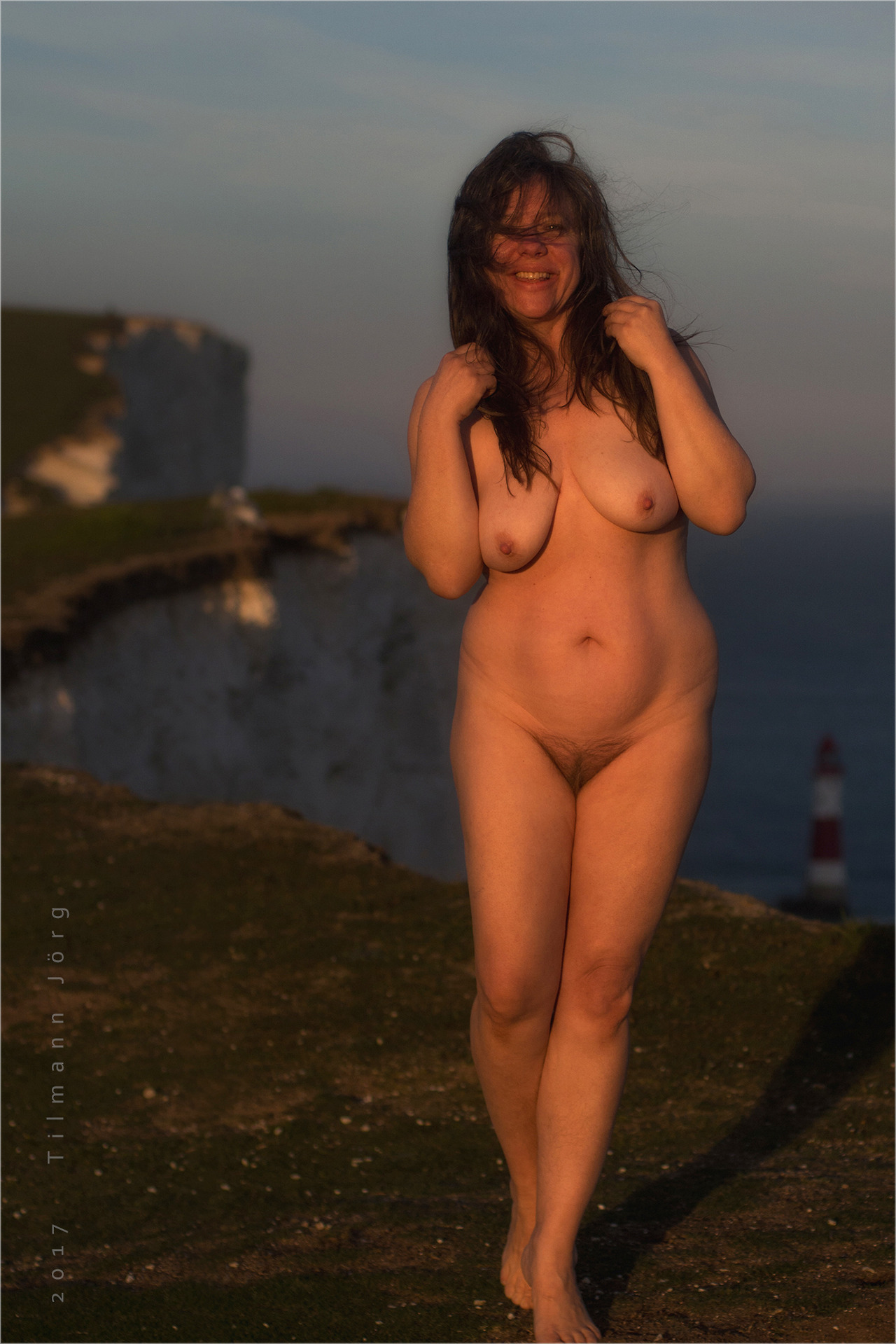 nude wife at beachy head
