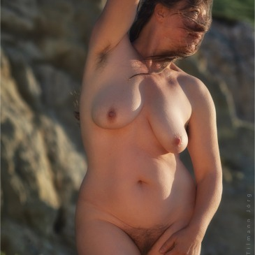 Nackt Frau am Durdle Door