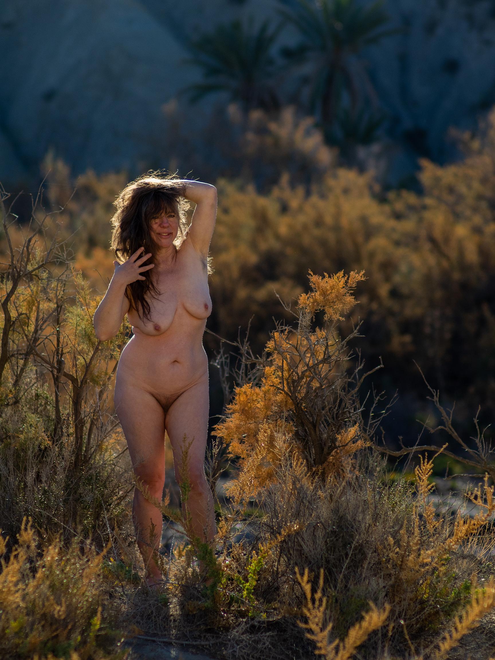 Nackt in der Wüste von Tabernas