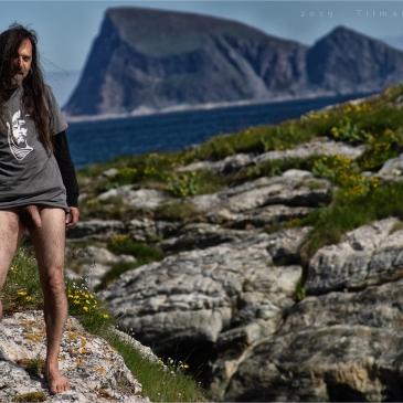 nackter mann auf Sommarøy
