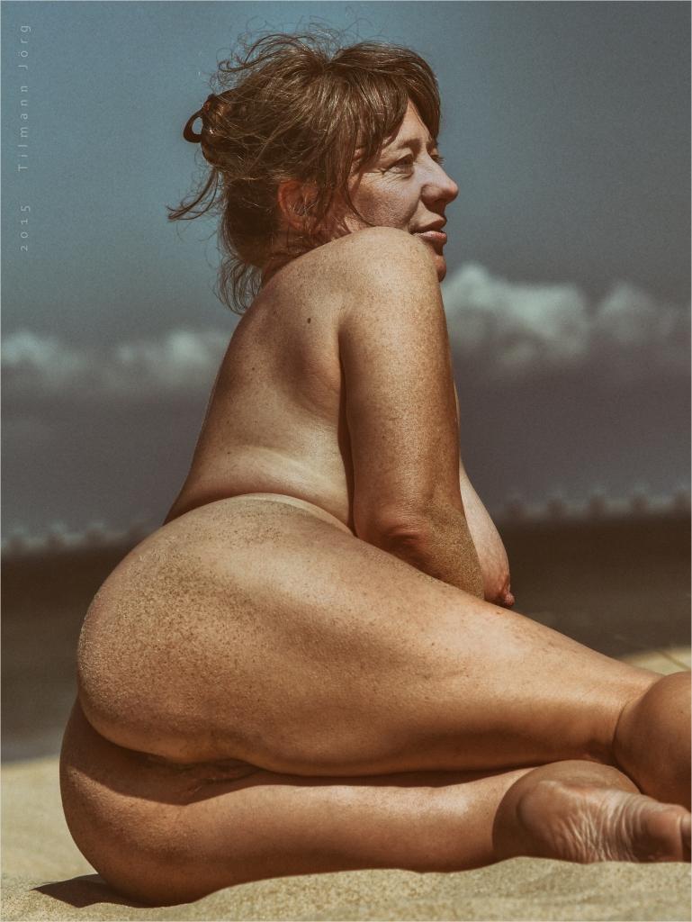 Naakte Duitsers op het strand