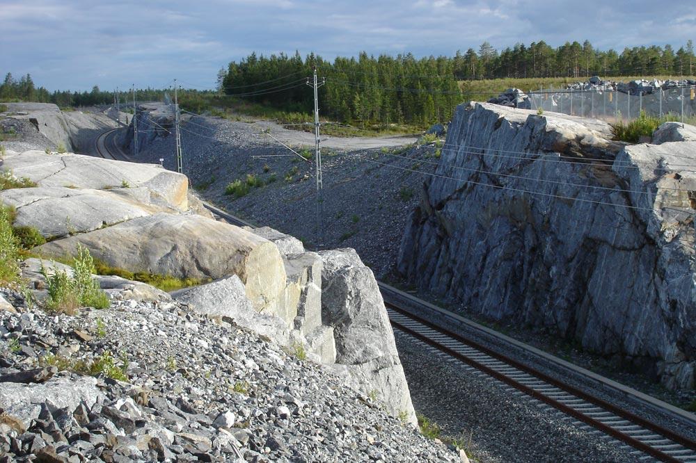 bahntrasse in nordschweden